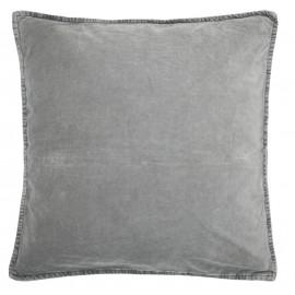 ib laursen housse de coussin carree velours gris souris 6230-58