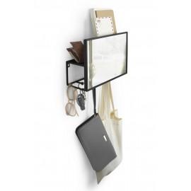 umbra cubiko miroir mural vide poches 5 pateres 1012828-040
