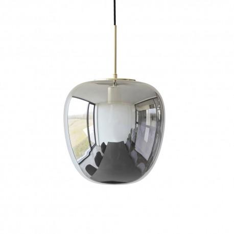 suspension design scandinave verre fume laiton hubsch