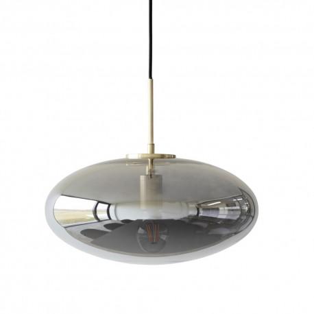 hubsch suspension ovale design verre fume gris laiton 990822