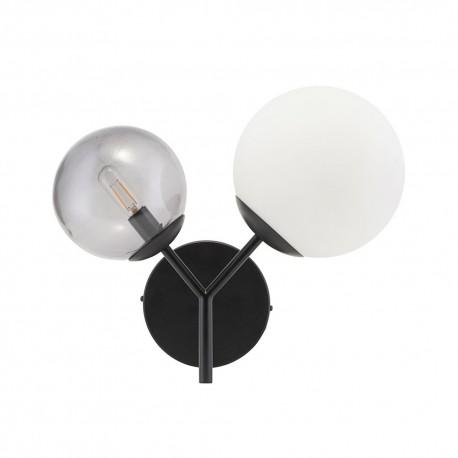 Applique deux globes avec prise métal noir House Doctor Twice