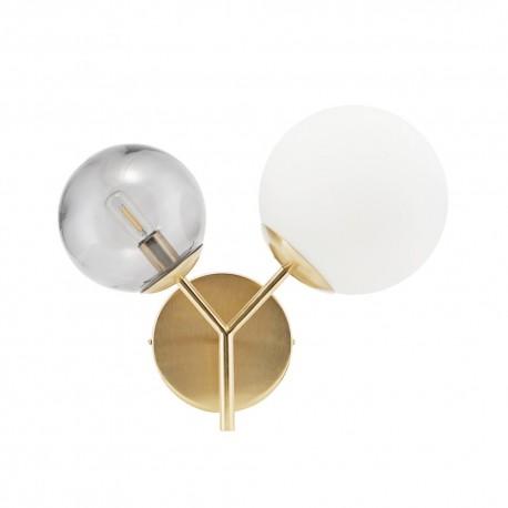 house doctor twice applique laiton double globe gb0108