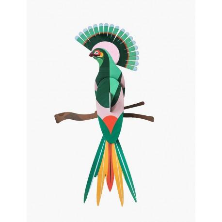 oiseau decoratif mural carton studio roof paradise bird gili ttm83