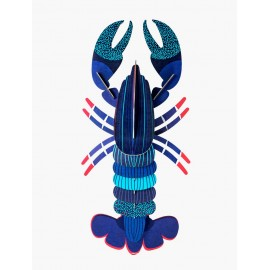 decoration murale homard bleu studio roof blue lobster ttm85