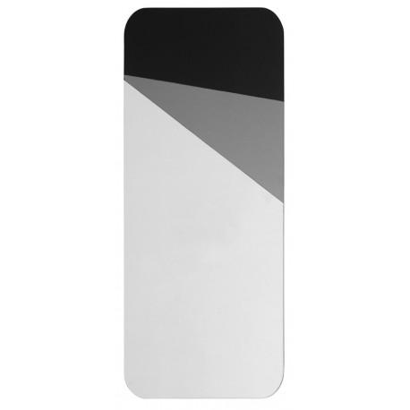 nordal miroir mural rectangulaire motif design geometrique gris noir8893