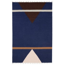 nordal sharp tapis design en laine bleu rose rouge 160 x 240 cm