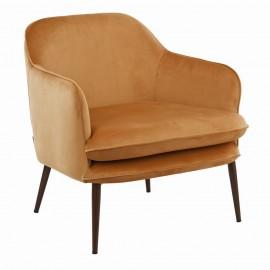 pols potten charmy fauteuil confortable velours jaune 550-020-127