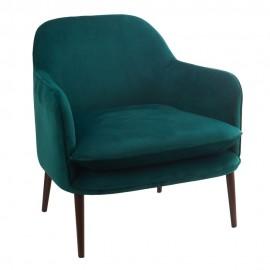pols potten fauteuil confortable moelleux velours vert 550-020-125