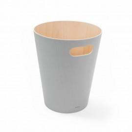 umbra woodrow poubelle grise en bois 082780-918