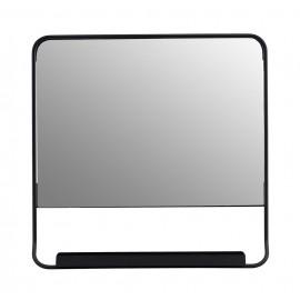house doctor chic miroir carre avec etagere mural metal noir ph0803