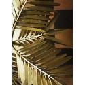 lampe de table exotique feuilles de palmier dorees madam stoltz