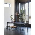 hubsch banc design noir 110 cm metal bois 020907