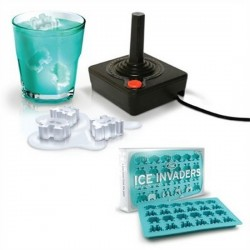Moule à glaçons design original ice space invaders