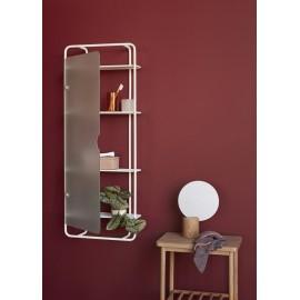 hubsch etagere vitree salle de bains metal blanc verre 020905