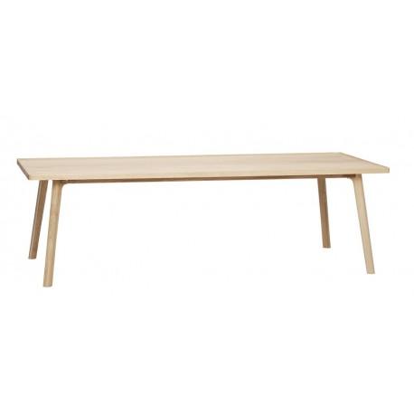 Grande table basse rectangulaire scandinave bois  Hübsch