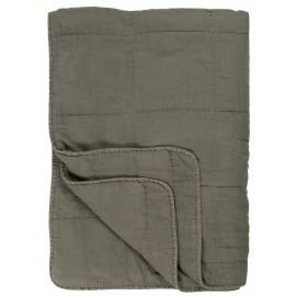ib laursen couvre lit matelasse coton gris taupe 6208-45