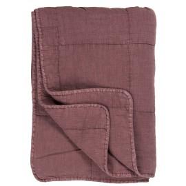 ib laursen couvre lit coton matelasse mauve 6208-52