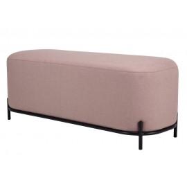 hk living banc design rembourre tissu rose pale mzm4784