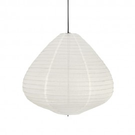 suspension lampion tissu blanc ecru hk living vlk2008