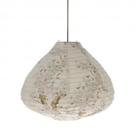 lampion suspension tissu coton imprime arbre cerisier vlk2009