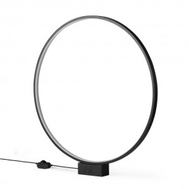 lampe de table cercle led lumineux D 60 cm hk living vol5052