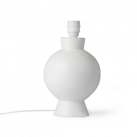 pied de lampe elegant rond gres blanc hk living vol5050