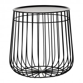 pols potten wire table basse rangement design metal noir 300-010-005