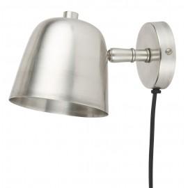 Applique de chevet rustique métal argent IB Laursen