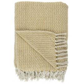 couverture coton jaune 130 x 160 cm ib laursen 6510-03