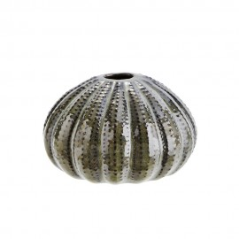 madam stoltz petit vase rond oursin de mer vert HY3995-12