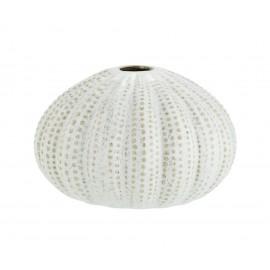 vase rond oursin de mer gres blanc madam stoltz HY3995-14W