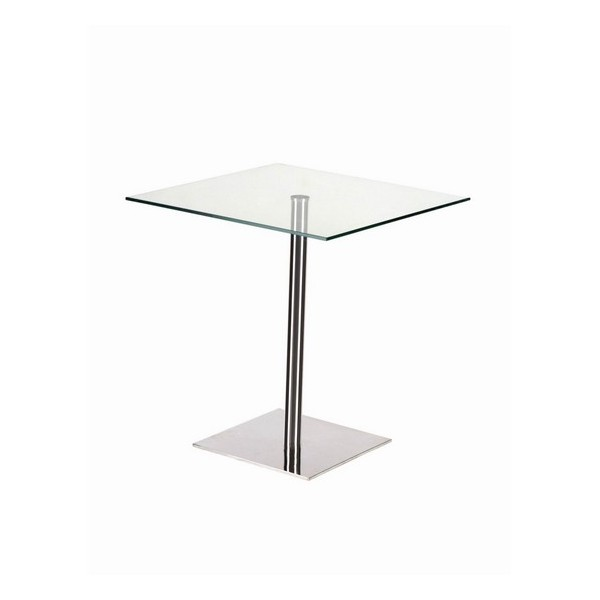 table basse carr e verre cristal table carree verre. Black Bedroom Furniture Sets. Home Design Ideas