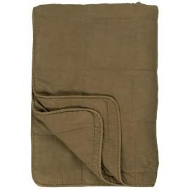 couvre lit plaid matelasse vert kaki ib laursen 130 x 180 cm 6208-31