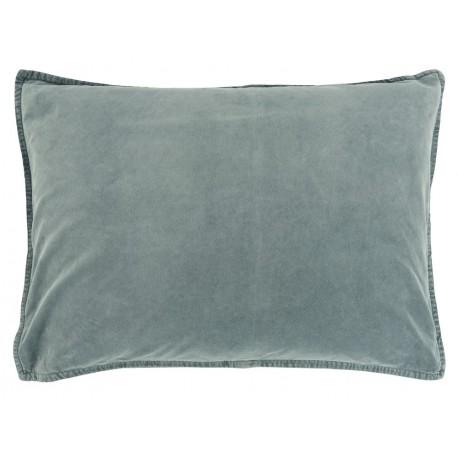 housse coussin rectangulaire velours bleu poudre 50 x 70 cm ib laursen