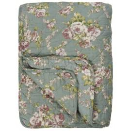 plaid matelasse coton fleuri ib laursen 130 x 180 cm 0757-00