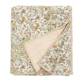 boutis couvre lit fleuri coton pique nordal 140 x 210 cm