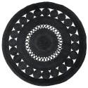 tapis rond jute noir ajoure 150 cm nordal 8576