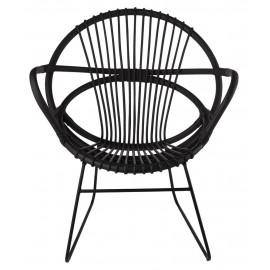 pols potten singapore fauteuil design retro rotin noir 520-020-035