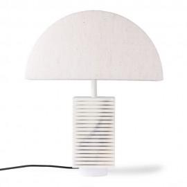 Pied de lampe marbre blanc classique chic HK Living