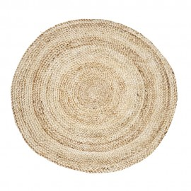 tapis rond chanvre tresse naturel d 100 cm house doctor structure