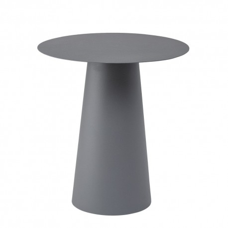 Bloomingville Bo Table Basse Ronde Design Metal Epure Gris Anthracite