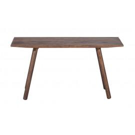 Petit banc design bois chêne foncé Muubs