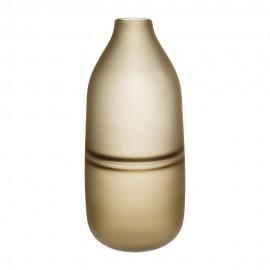 hubsch vase droit verre givre marron ambre 660801