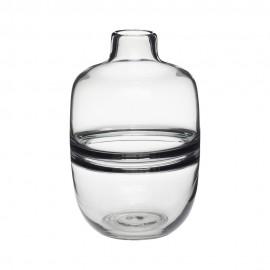 hubsch vase design verre gris fume hubsch 660802