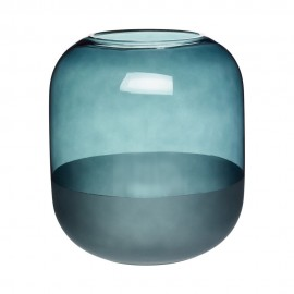 vase design bleu canard verre depoli hubsch 660806