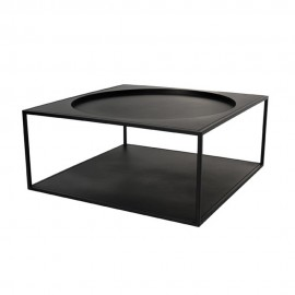 hk living table basse carree metal noir fur0011