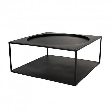 hk living table basse carree metal noir fur0011