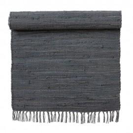 tapis descente de lit coton gris fonce bungalow denmark 70 x 130 cm