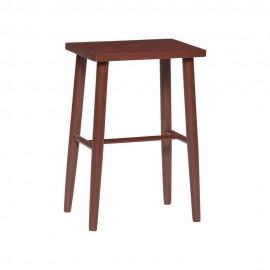 hubsch tabouret design bois rouge 880720