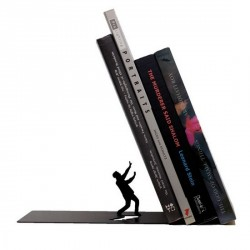 Serre-livres noir design defensive man artori design